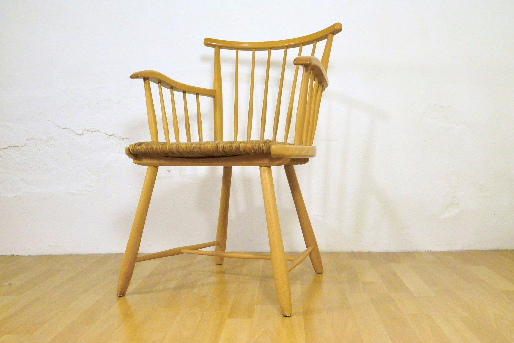 vintage armlehnstuhl von arno lambrecht f r wk m bel bei. Black Bedroom Furniture Sets. Home Design Ideas