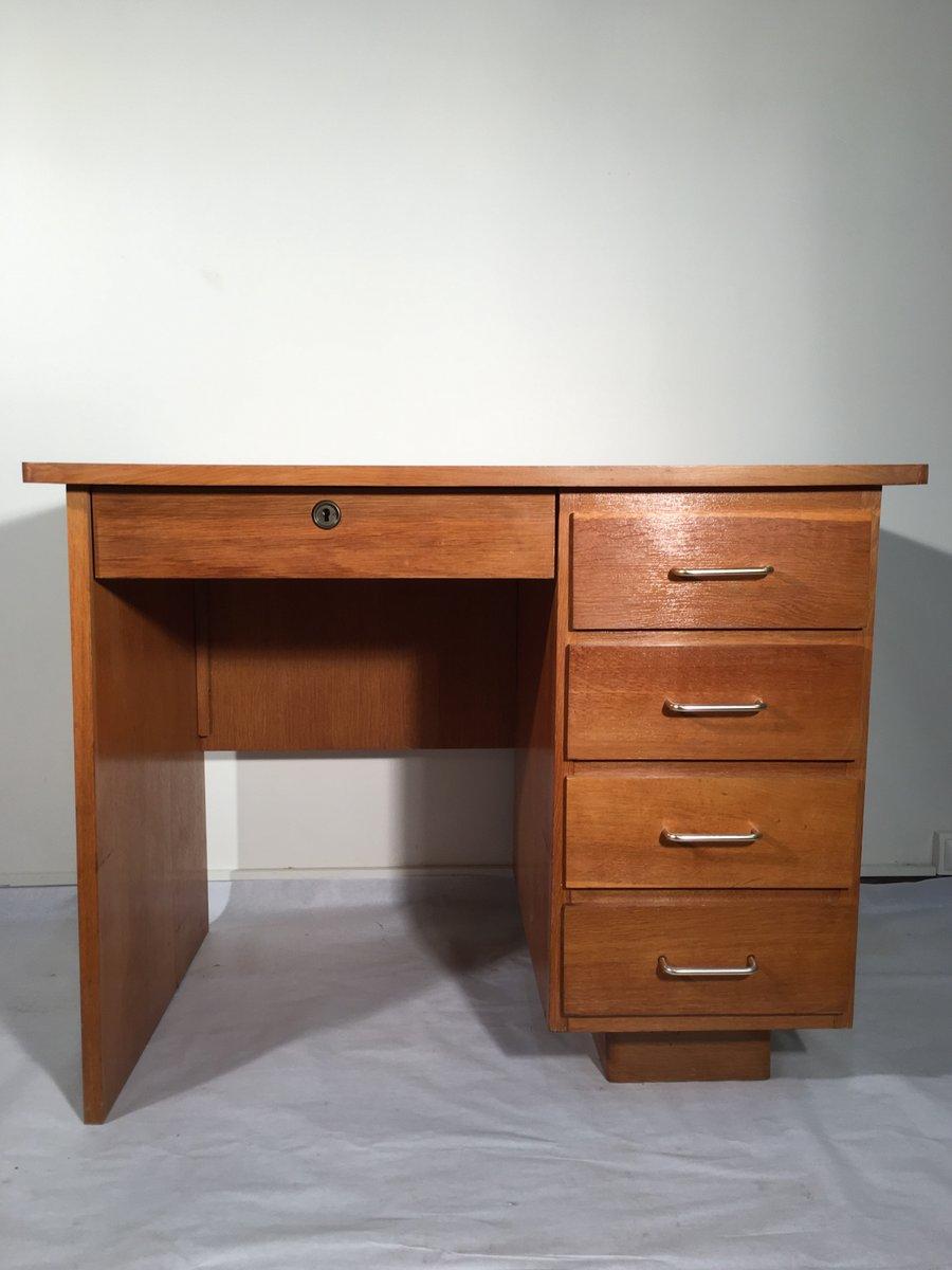 kleiner vintage eichenholz schreibtisch bei pamono kaufen. Black Bedroom Furniture Sets. Home Design Ideas