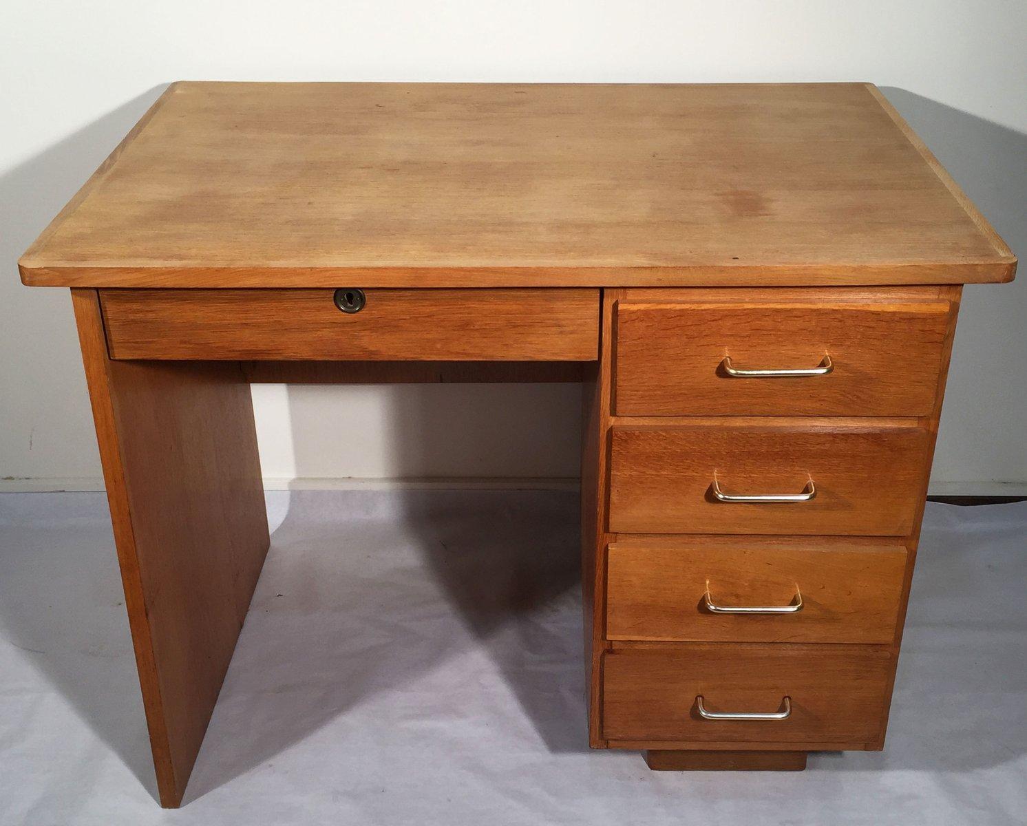 petit bureau vintage en ch ne en vente sur pamono. Black Bedroom Furniture Sets. Home Design Ideas