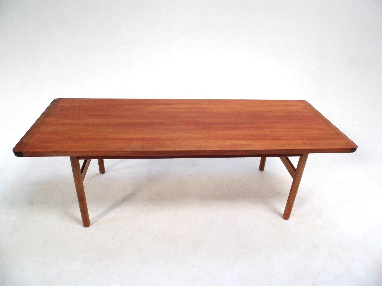 mid century scandinavian large teak coffee table 1960s for sale at pamono. Black Bedroom Furniture Sets. Home Design Ideas