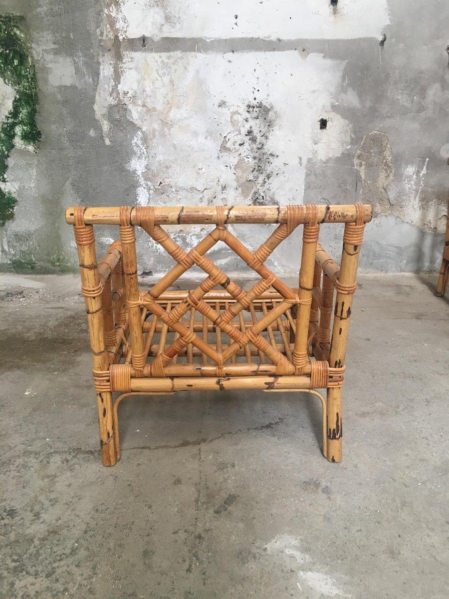 bambus divan und zwei sessel 1960er bei pamono kaufen. Black Bedroom Furniture Sets. Home Design Ideas
