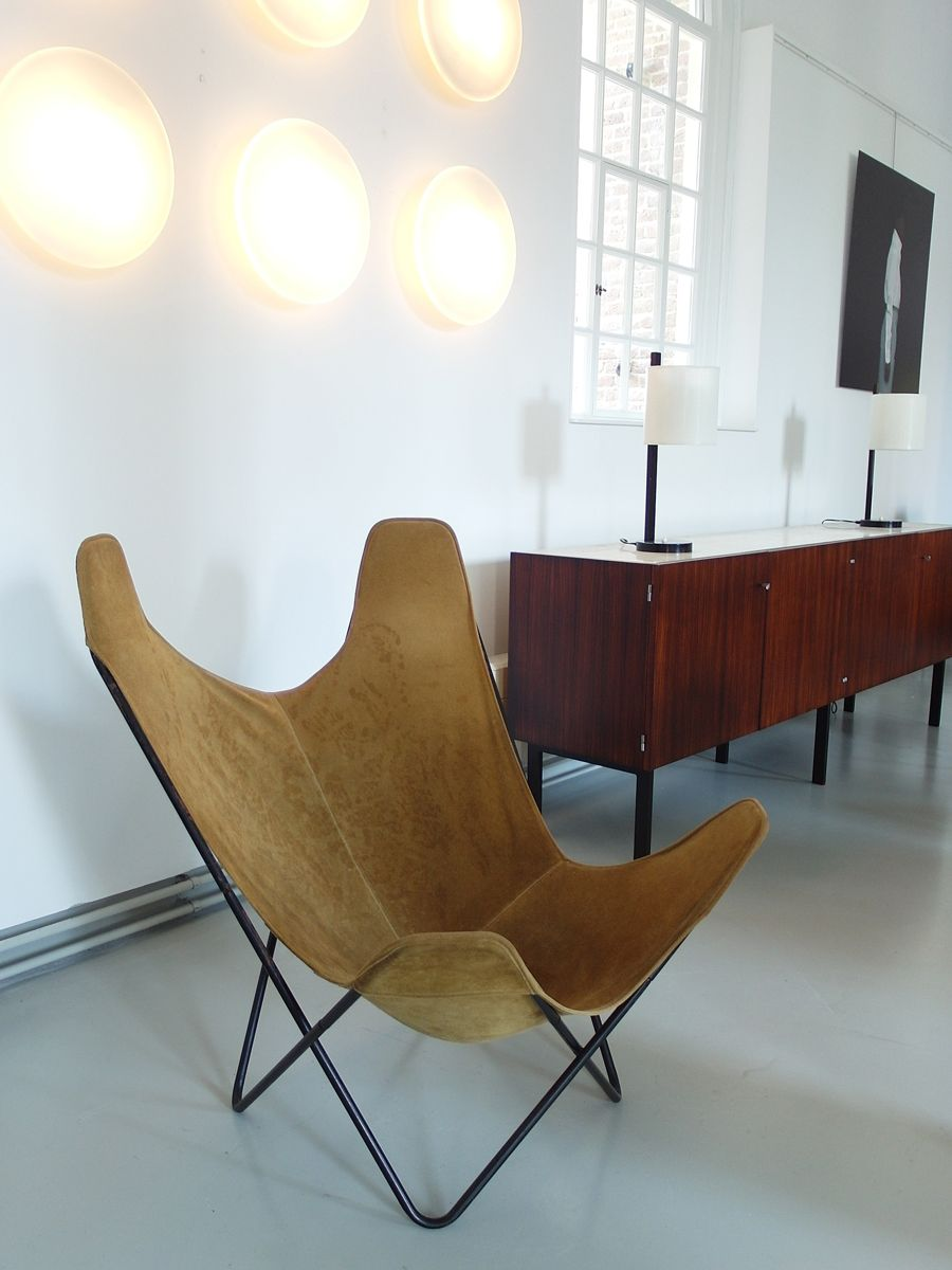 chaise butterfly par jorge ferrari hardoy juan kurchan et antonio bonet pour knoll 1970s en. Black Bedroom Furniture Sets. Home Design Ideas