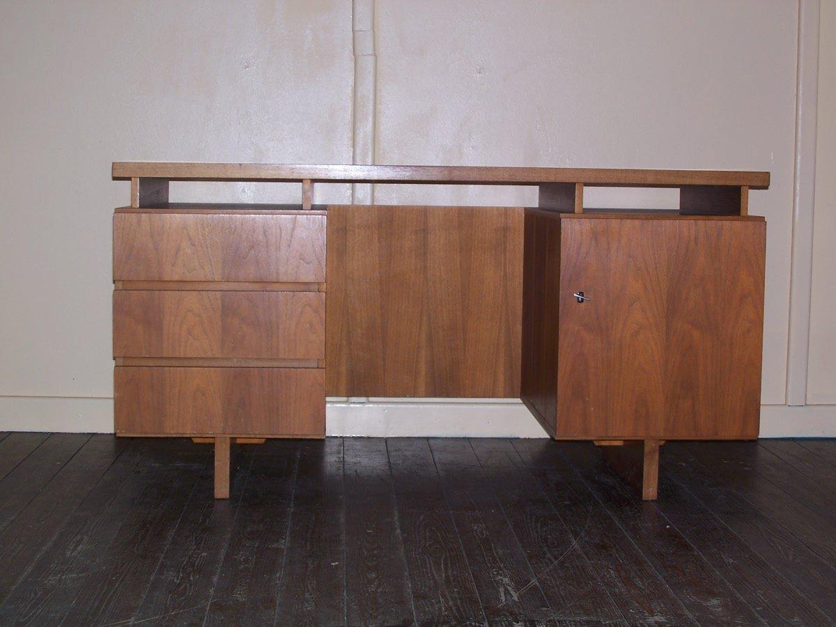 vintage holz schreibtisch bei pamono kaufen. Black Bedroom Furniture Sets. Home Design Ideas