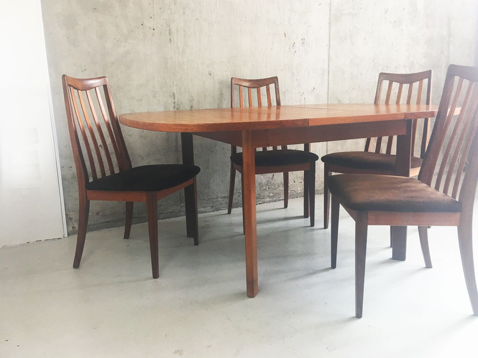 Mid Century Extendable Table And 4 Dining Chairs From G Plan 1970s For Sale