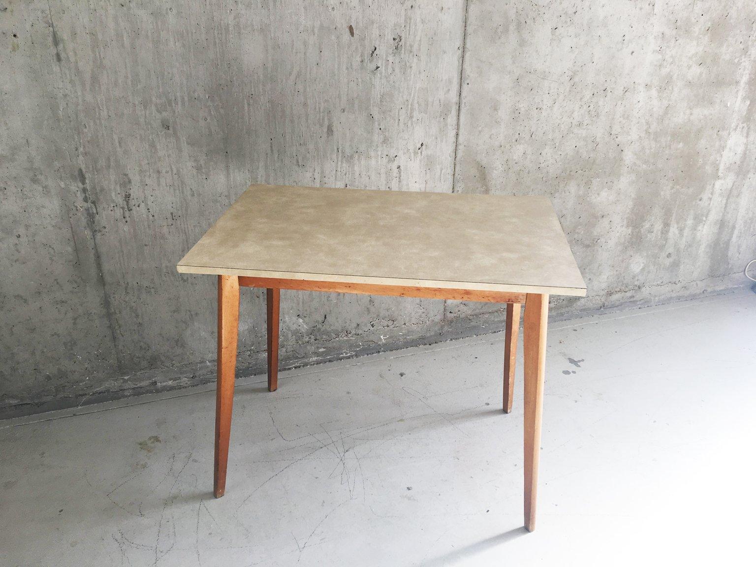 Table de cuisine mid century en formica et teck 1960s en for Table de cuisine en formica