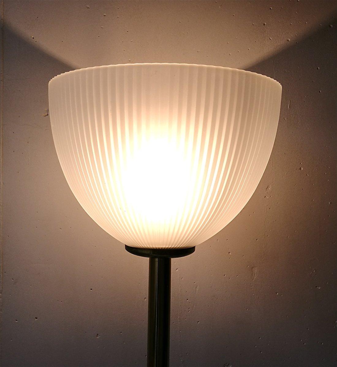 franz sische vintage stehlampe mit glasschirm 1970er bei pamono kaufen. Black Bedroom Furniture Sets. Home Design Ideas