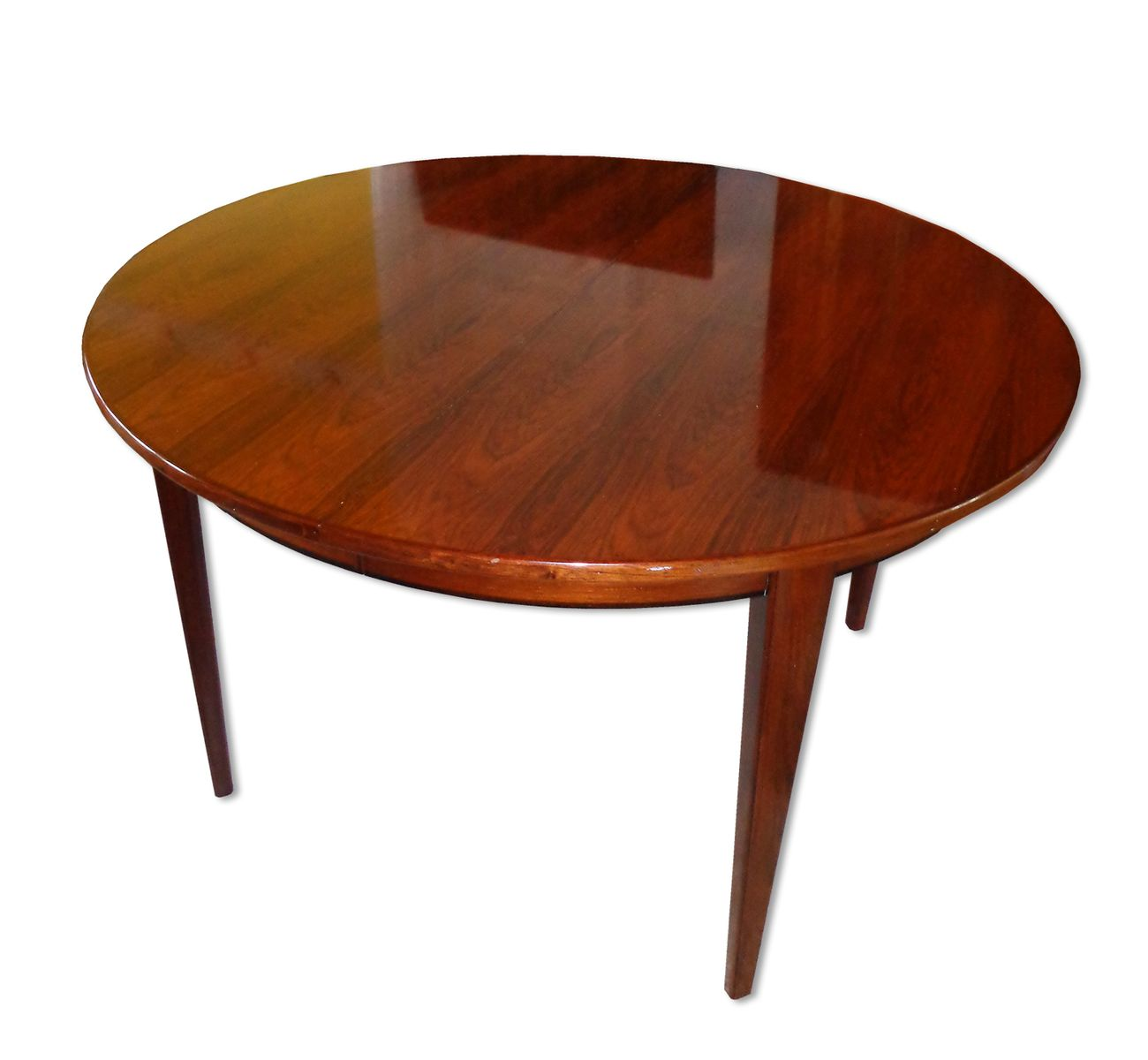 Round Rosewood 55 Dining Table By Gunni Omann 1960s