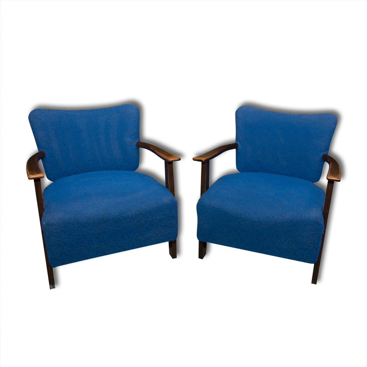 Blue Armchairs From Thonet 1930s Set Of 2 For Sale At Pamono