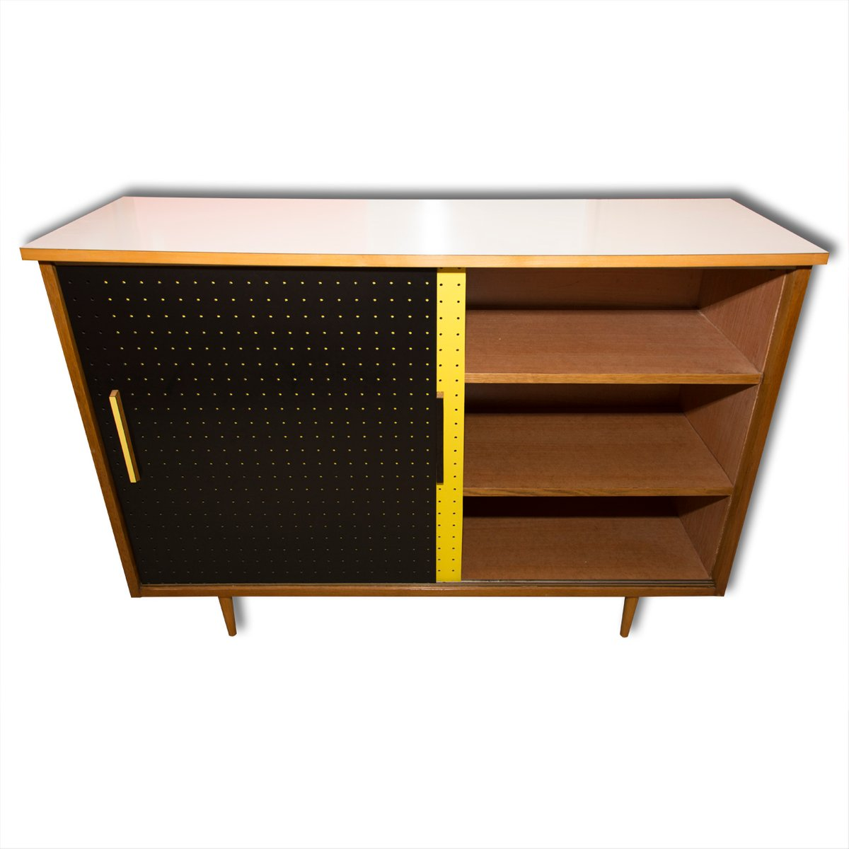 mid century schrank mit schiebet ren von interier praha. Black Bedroom Furniture Sets. Home Design Ideas