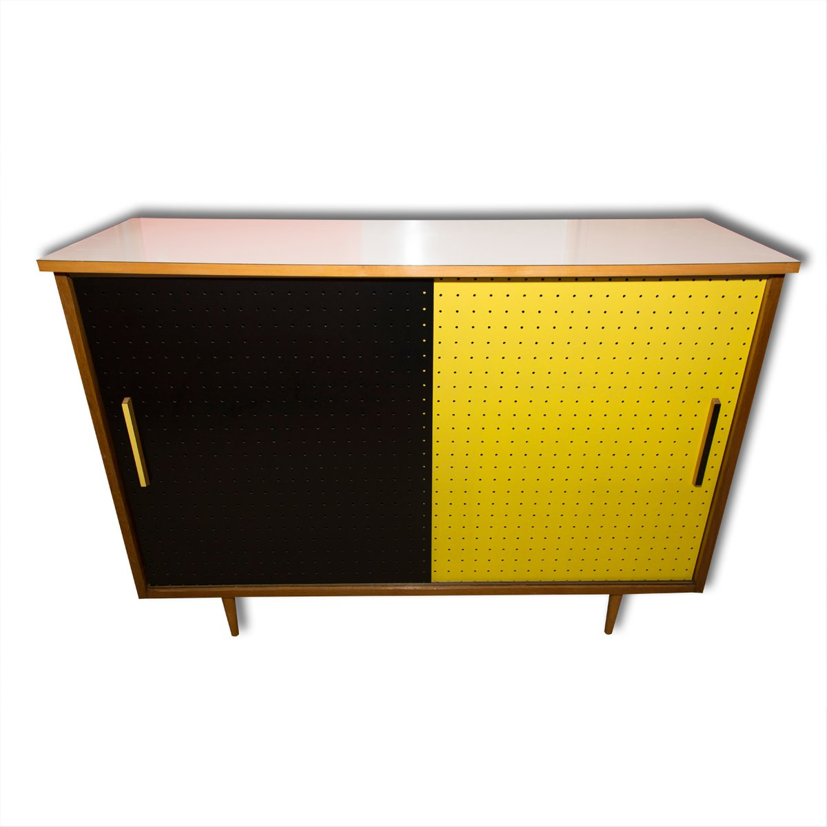 mid century cabinet with sliding doors from interier praha 1960s
