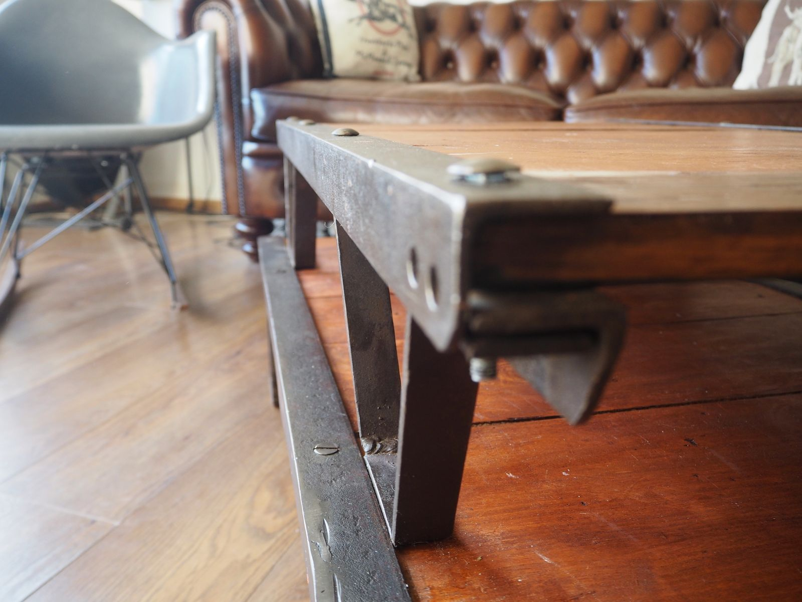 French Industrial Pallet Coffee Table 1950s for sale at Pamono