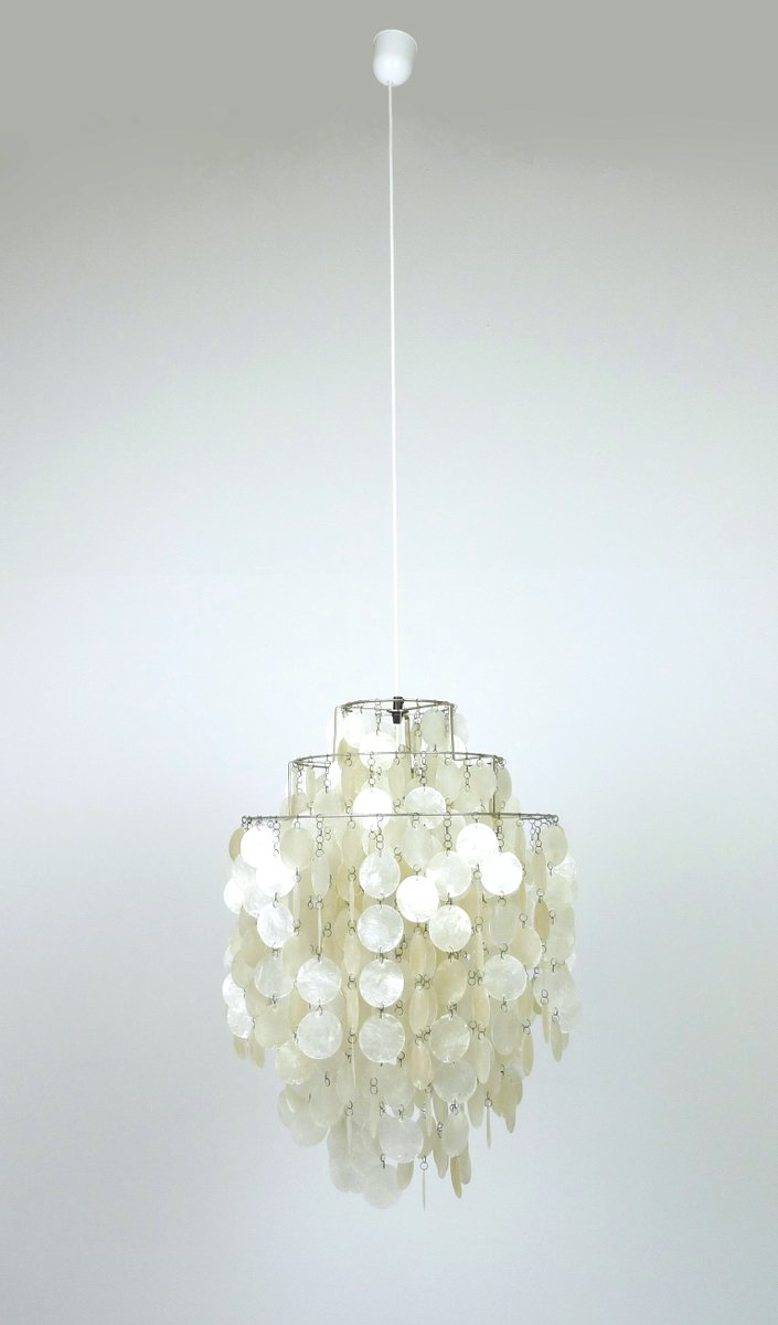 Fun 1 Dm Mother Of Pearl Chandelier By Verner Panton For J