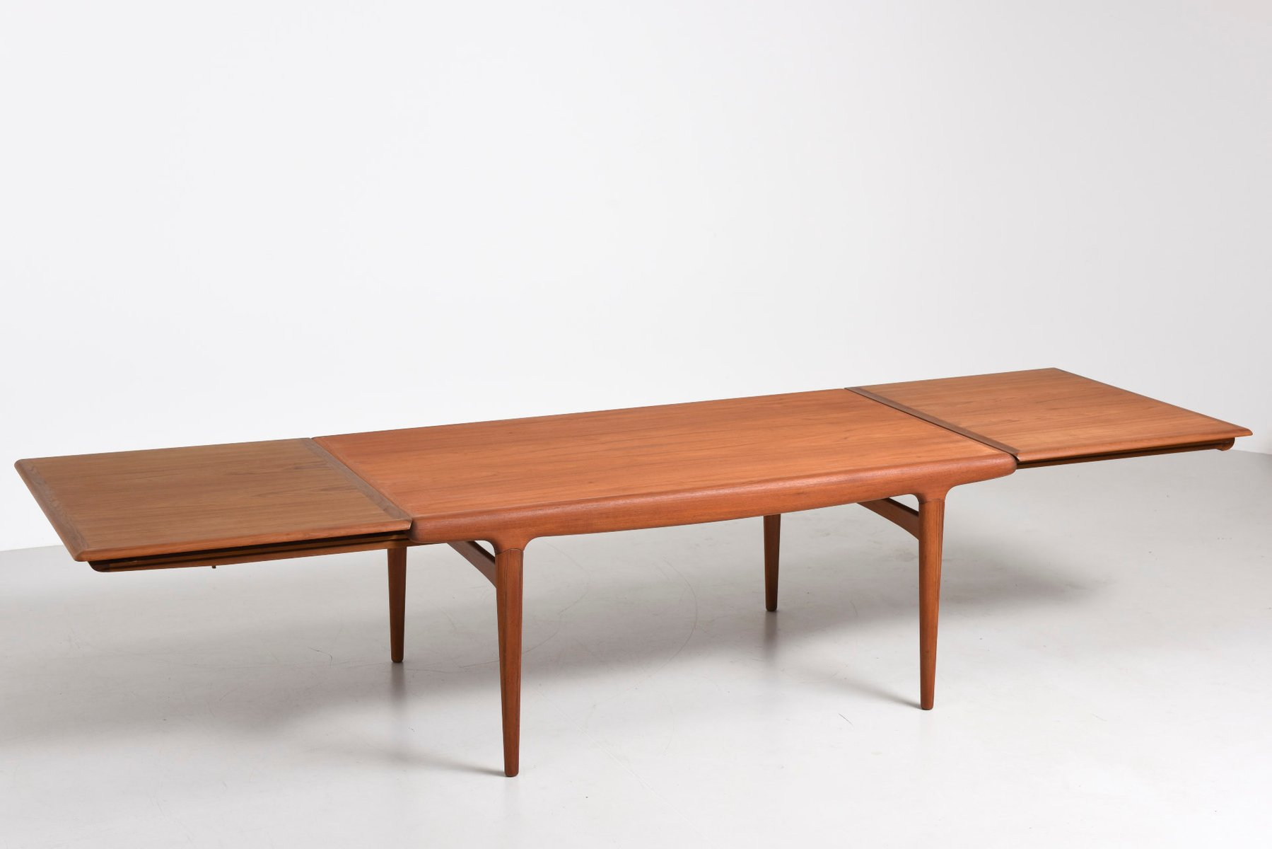 Extra large vintage dining table by johannes andersen for for Extra small dining table