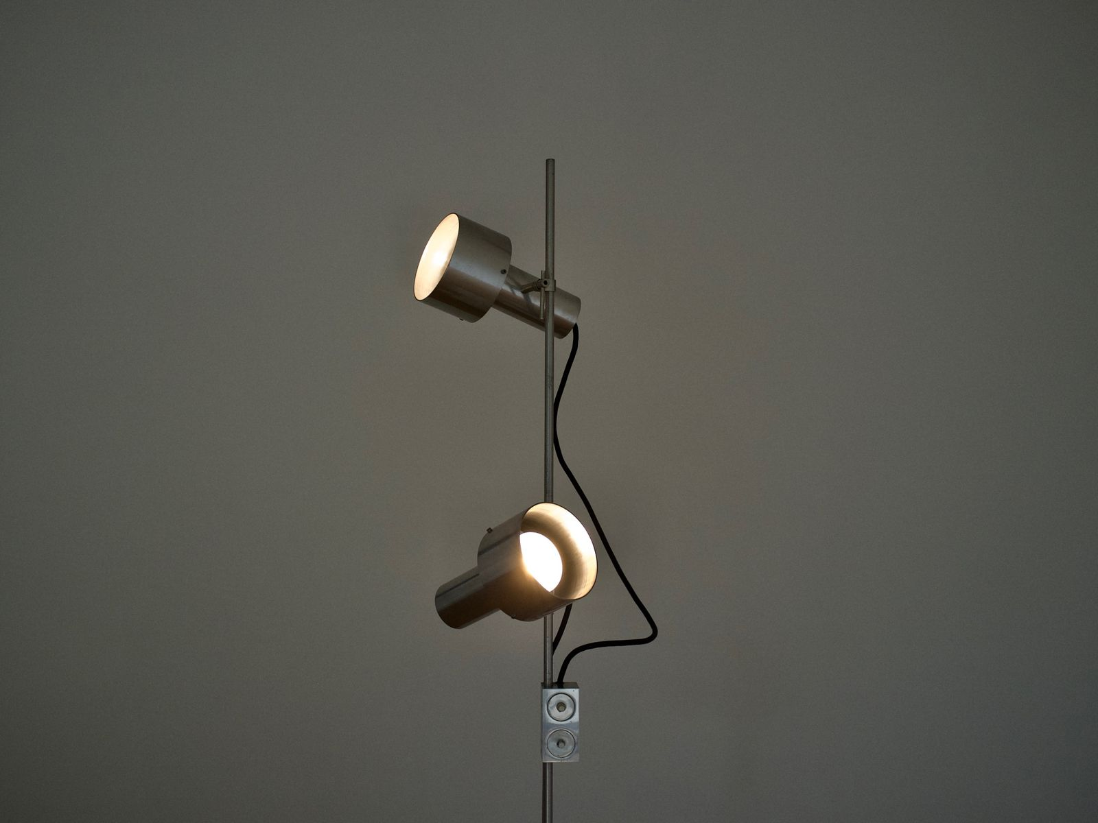 TA Aluminum Spot Floor Lamp By Peter Nelson For Architectural Lighting Compan