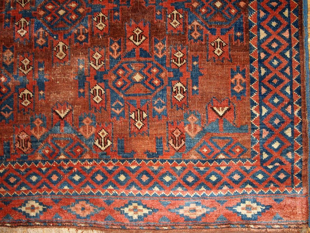 Antiker Türkischer Handgeknüpfter Yomud Teppich, 1880er