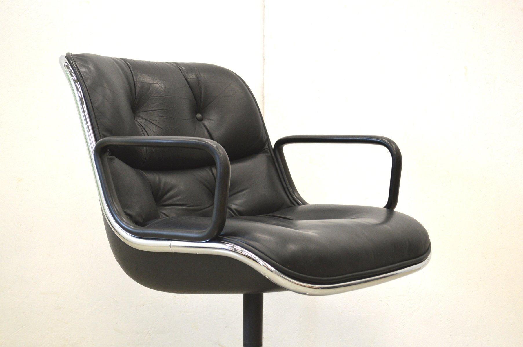 chaises de bureau charles pollock pour knoll 1970s set de 2 en vente sur pamono. Black Bedroom Furniture Sets. Home Design Ideas