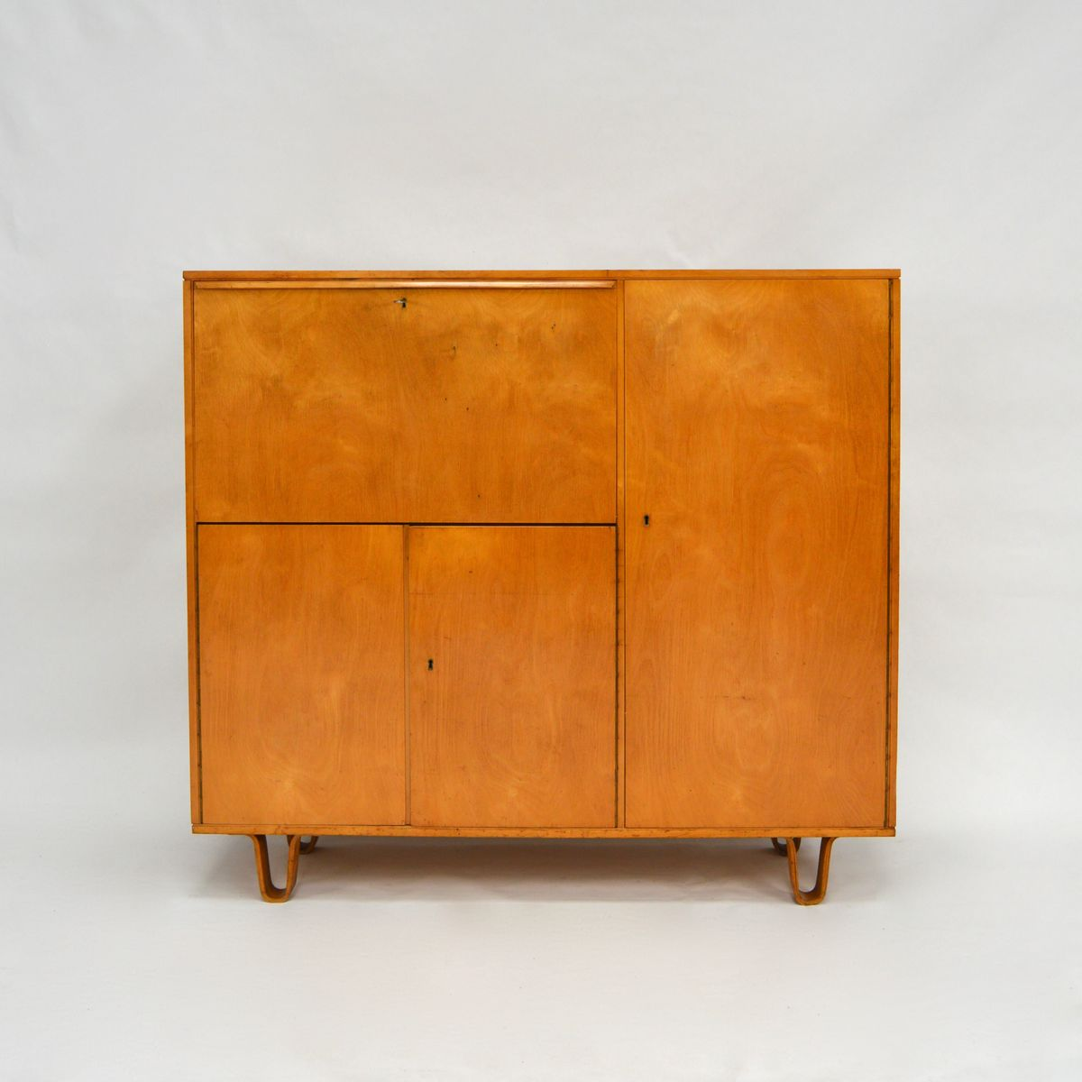 Mid Century Cb01 Birch Cabinet By Cees Braakman For Pastoe