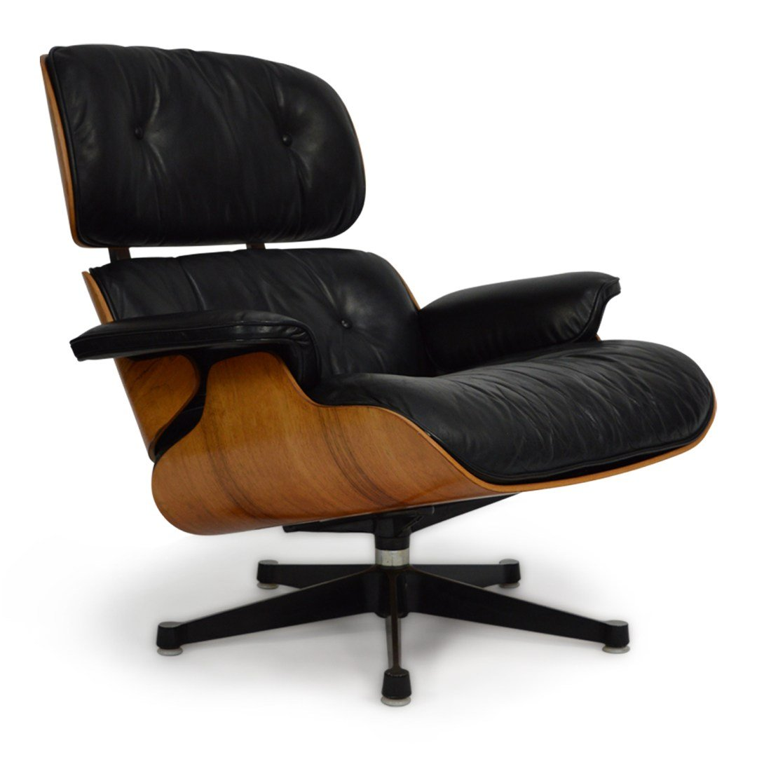 Lounge Chair with Ottoman by Charles & Ray Eames for Herman Miller 1970s
