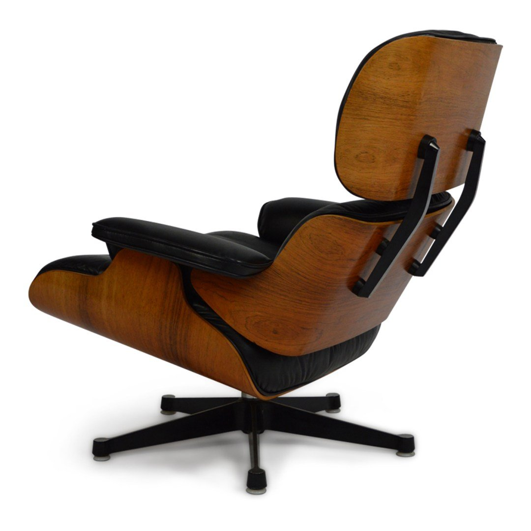 lounge chair with ottoman by charles ray eames for herman miller 1970s for sale at pamono. Black Bedroom Furniture Sets. Home Design Ideas