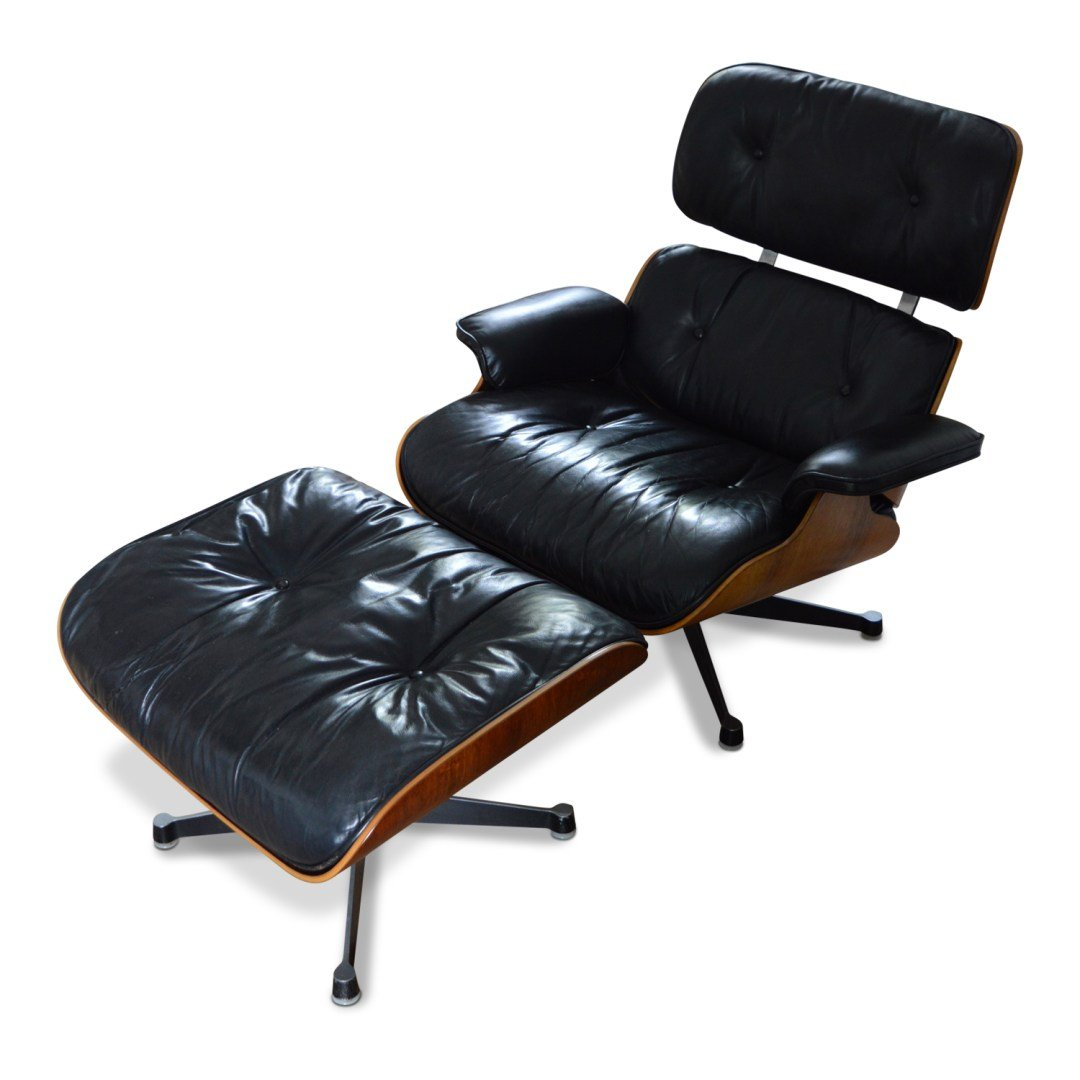 Lounge chair with ottoman by charles ray eames for for Charles eames lounge chair nachbildung