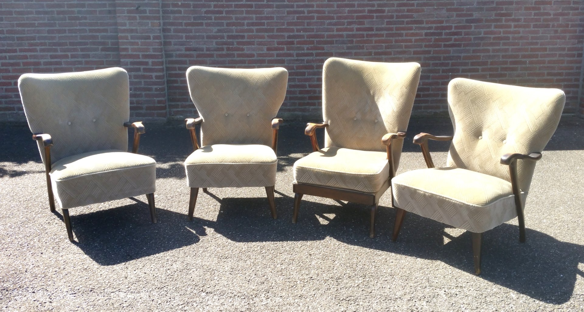 midcentury lounge chairs by aa patijn for zijlstra joure set of 4 - Mid Century Lounge Chair