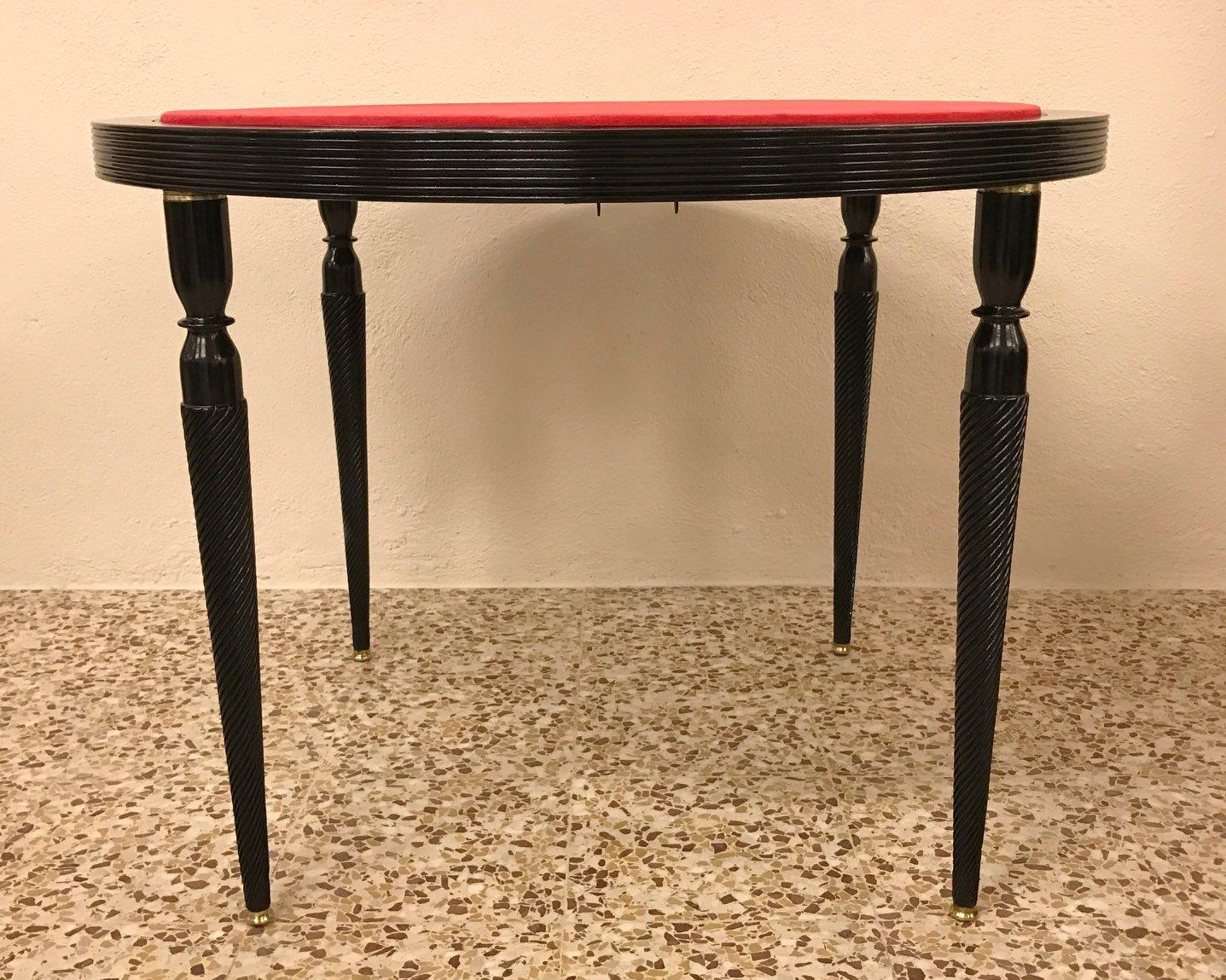 table de jeu art d co italie 1940s en vente sur pamono. Black Bedroom Furniture Sets. Home Design Ideas