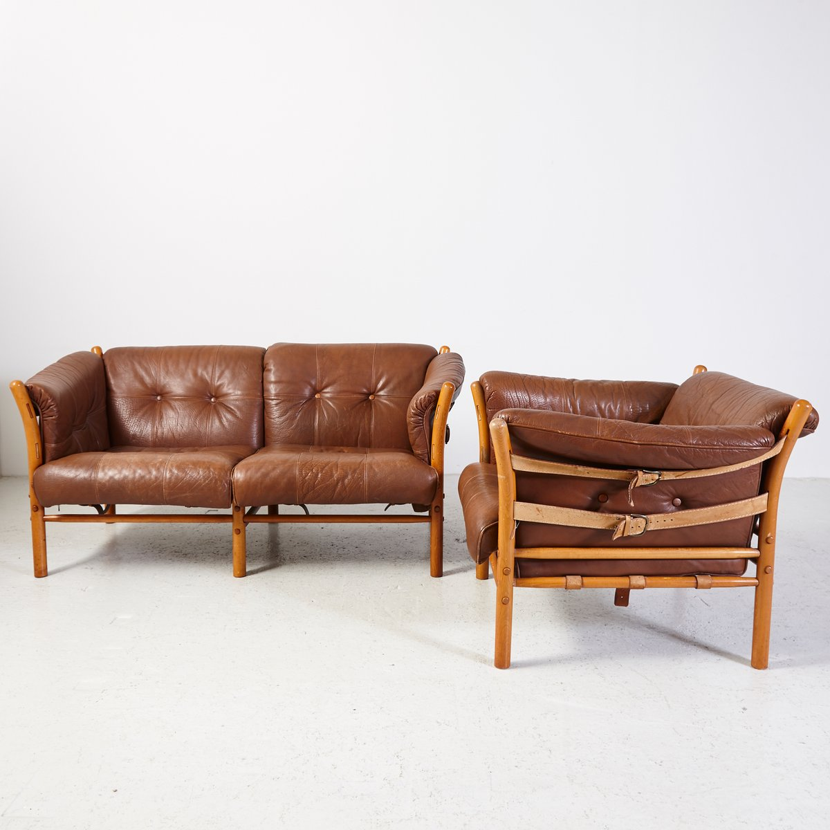 Vintage ilona armchair and sofa by arne norell for sale at for Sofa armchair