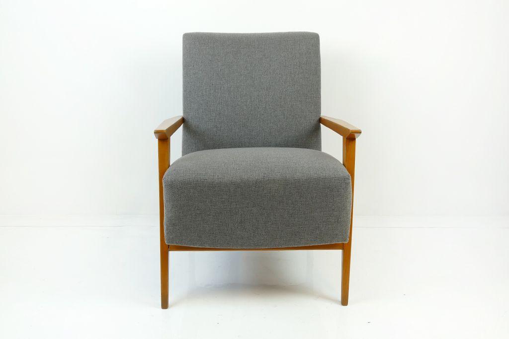 grauer mid century sessel 1960er bei pamono kaufen. Black Bedroom Furniture Sets. Home Design Ideas