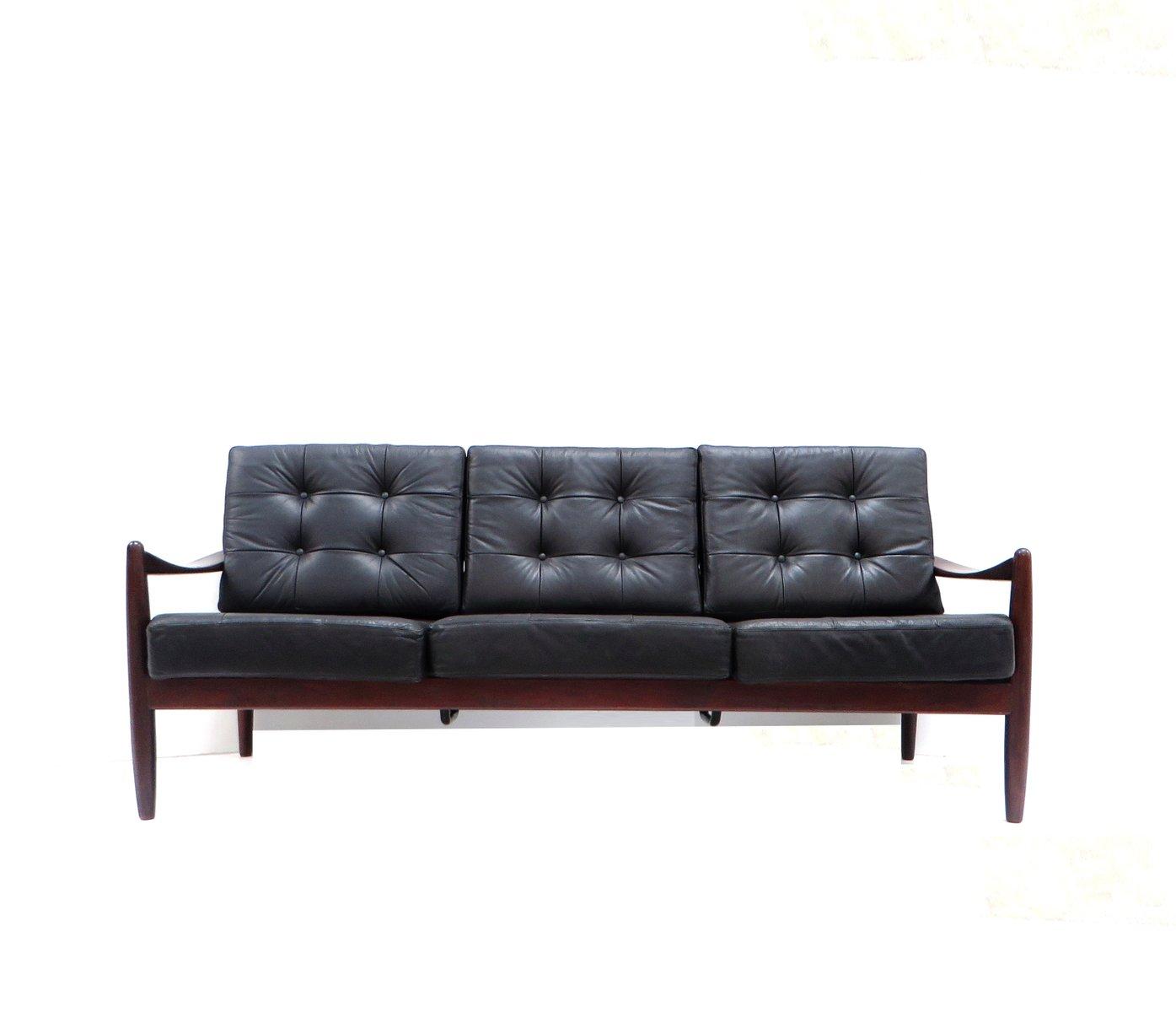 d nisches vintage 3 sitzer ledersofa bei pamono kaufen. Black Bedroom Furniture Sets. Home Design Ideas