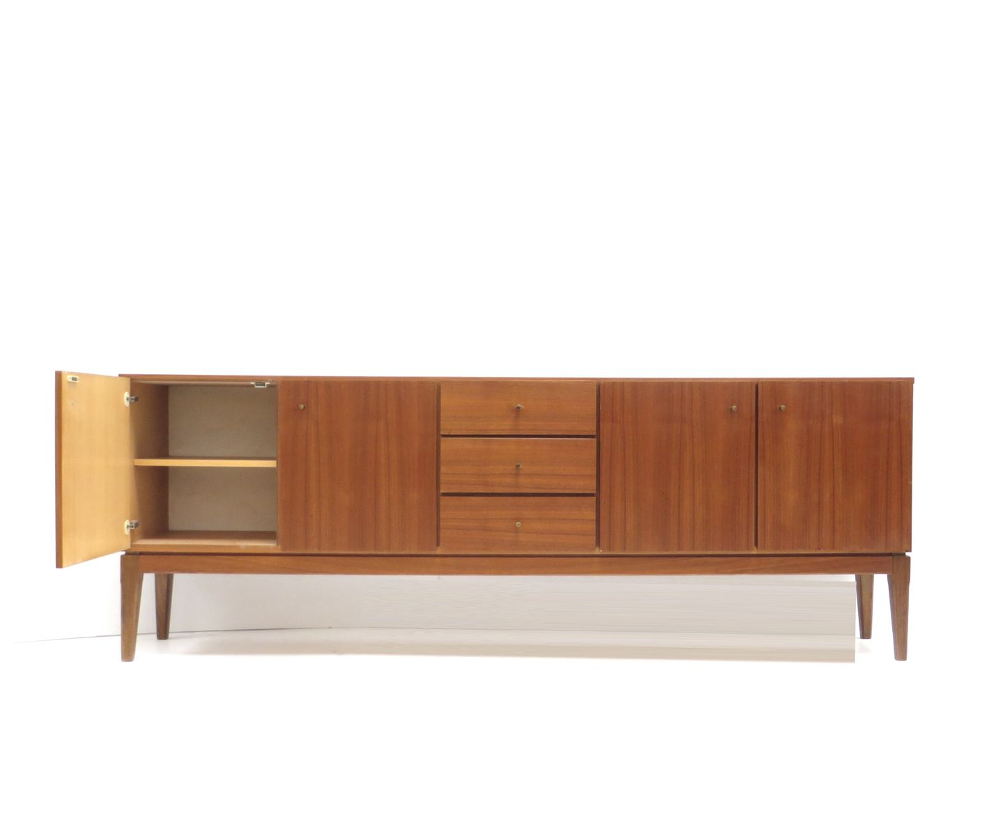 vintage sideboard with brass handles 1960s for sale at pamono