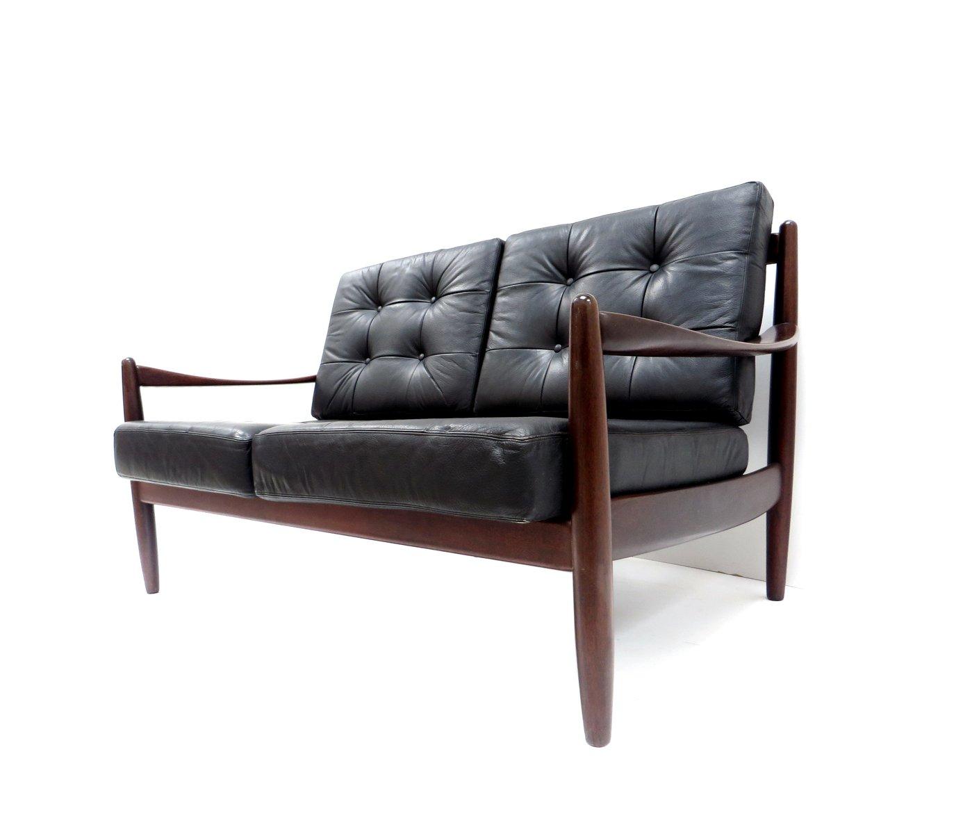d nisches 2 sitzer ledersofa bei pamono kaufen. Black Bedroom Furniture Sets. Home Design Ideas
