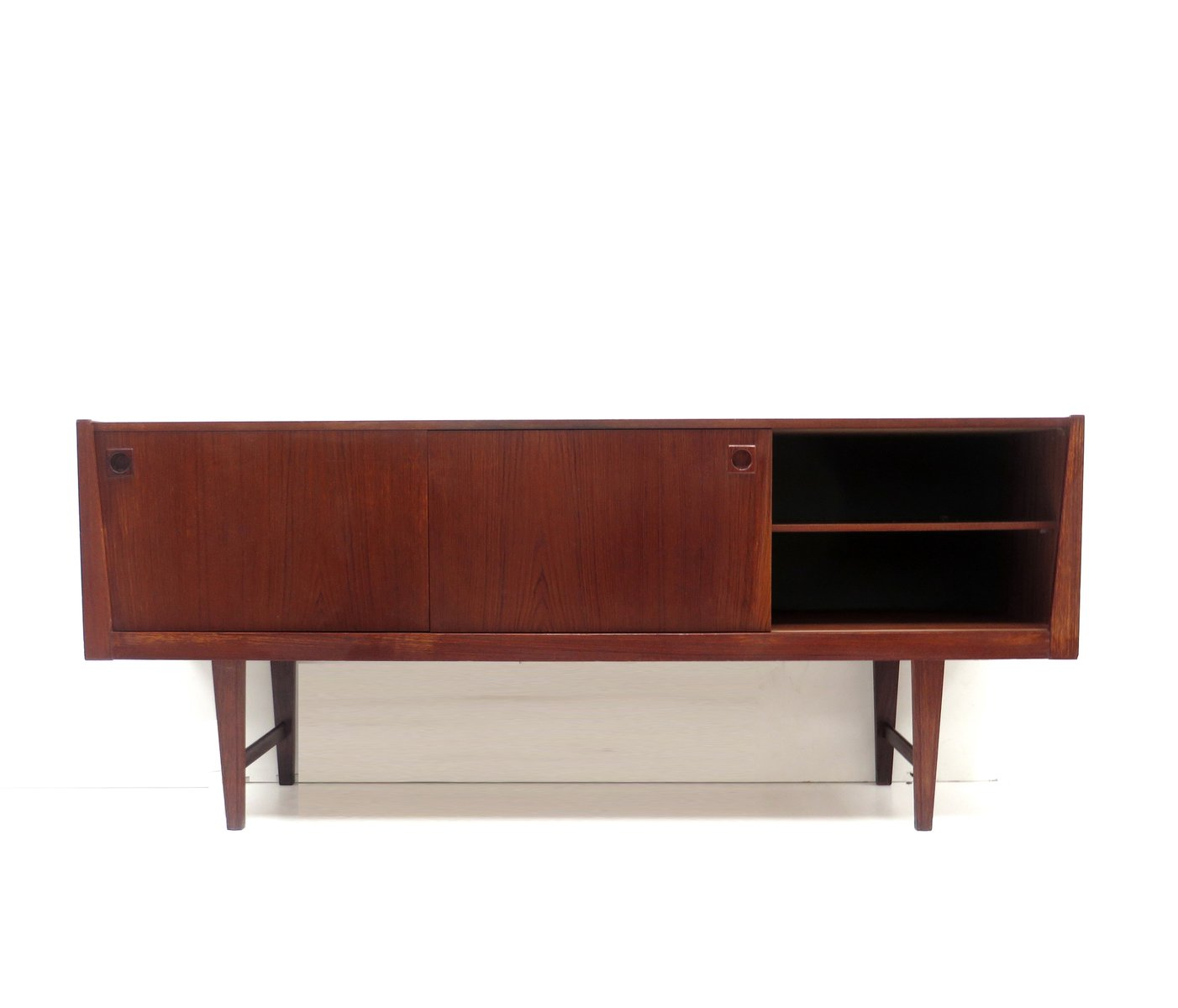 vintage sideboard with handles 1960s for sale at pamono. Black Bedroom Furniture Sets. Home Design Ideas