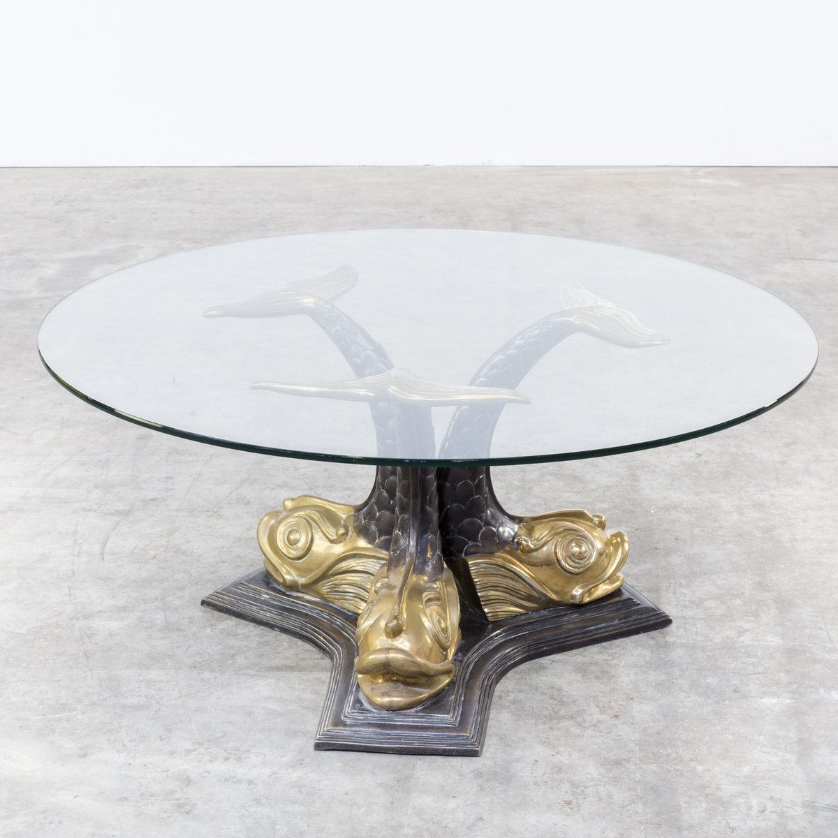 Italian Sculptural Brass Koi Fish Coffee Table 1960s For Sale At Pamono