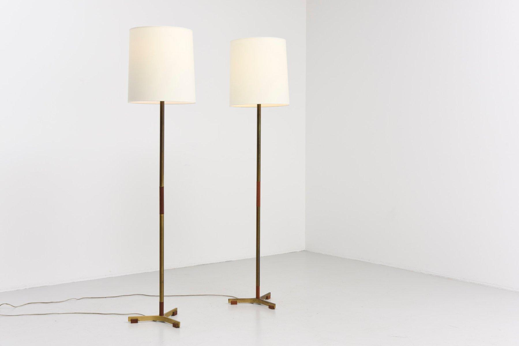 vintage monolit stehlampen von jo hammerborg f r fog m rup 2er set bei pamono kaufen. Black Bedroom Furniture Sets. Home Design Ideas