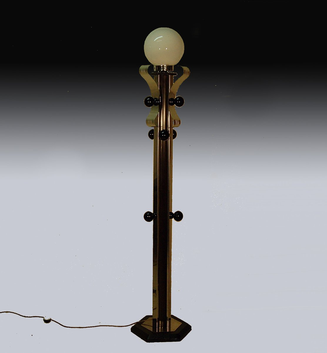 Mid century italian coat rack floor lamp 1970s for sale at pamono for 1970s floor lamps