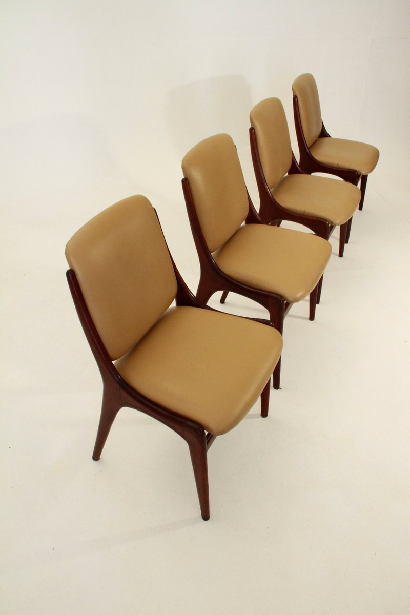 Italian Mid Century Dining Chairs 1960s Set Of 4 For
