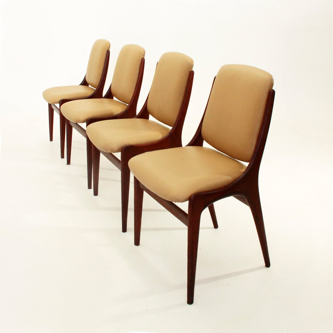 Italian mid century dining chairs s set of for