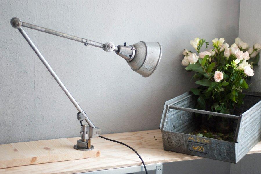 Len Schirm große vintage gelenkle mit grauem schirm curt fischer für midgard bei pamono kaufen