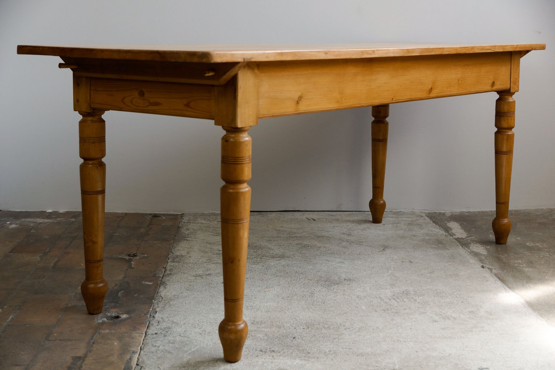 Rustic dining table 1900s for sale at pamono - Rustic kitchen tables for sale ...