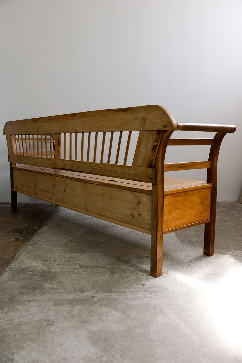 grand banc de cuisine biedermeier en bois tendre 1830s en vente sur pamono. Black Bedroom Furniture Sets. Home Design Ideas