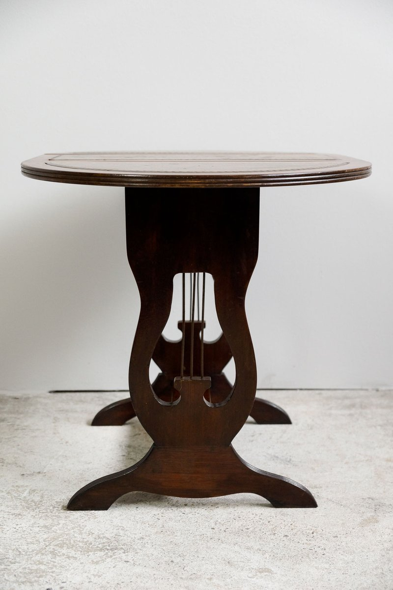 Small english regency side table with revolving top 1830s for Revolving end table