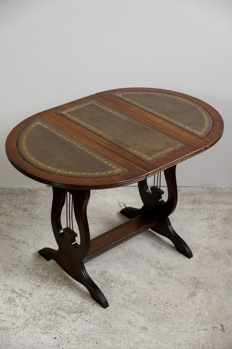 Small English Regency Side Table With Revolving Top, 1830s