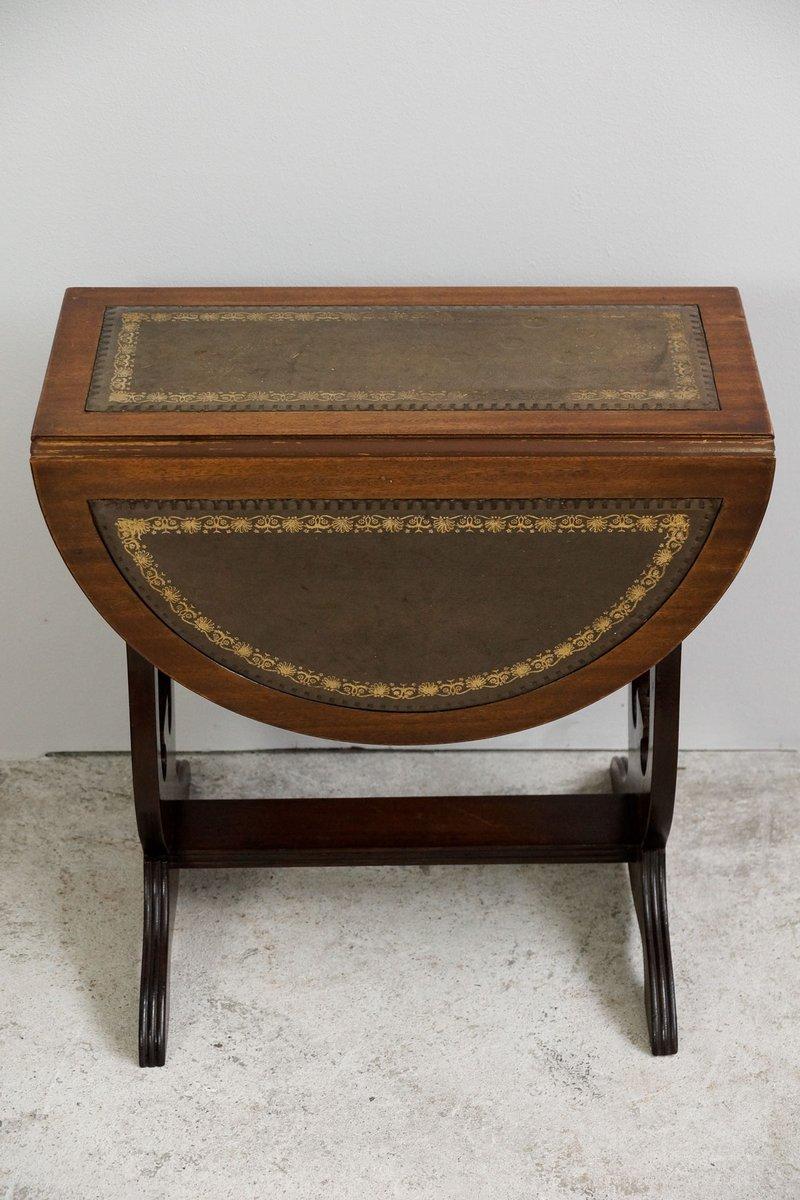 kleiner englischer regency beistelltisch mit drehbarer. Black Bedroom Furniture Sets. Home Design Ideas