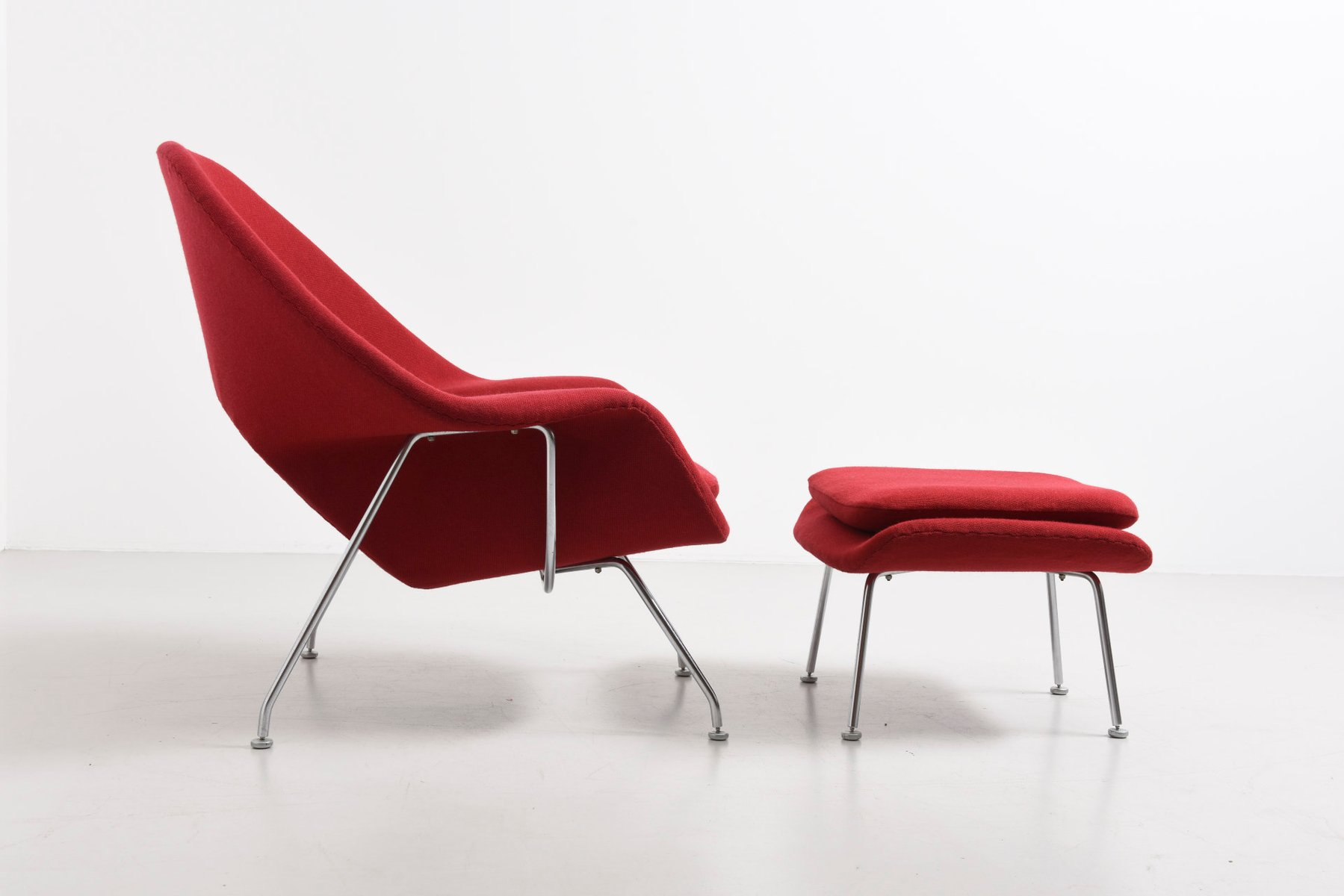 Knoll womb chair - Vintage Womb Chair With Ottoman By Eero Saarinen For Knoll