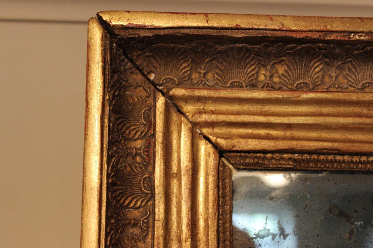 Specchio antico dorato, Francia in vendita su Pamono