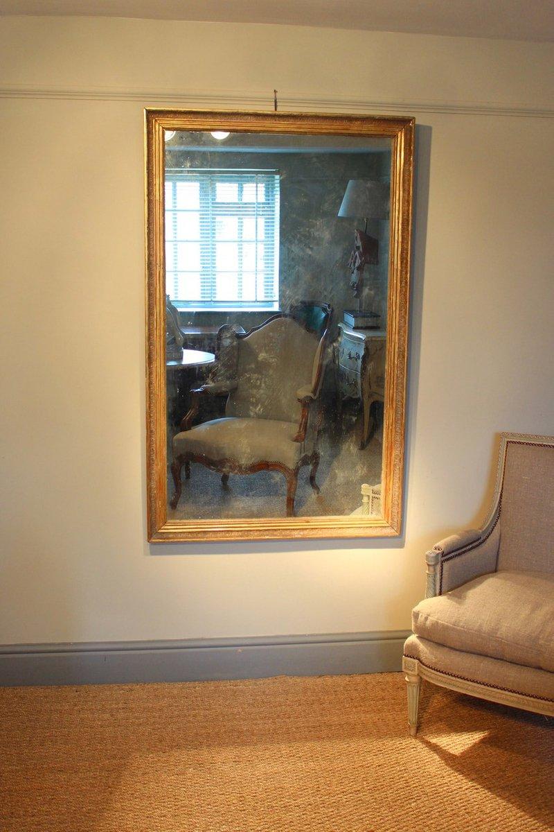 antiker franz sischer vergoldeter spiegel bei pamono kaufen. Black Bedroom Furniture Sets. Home Design Ideas