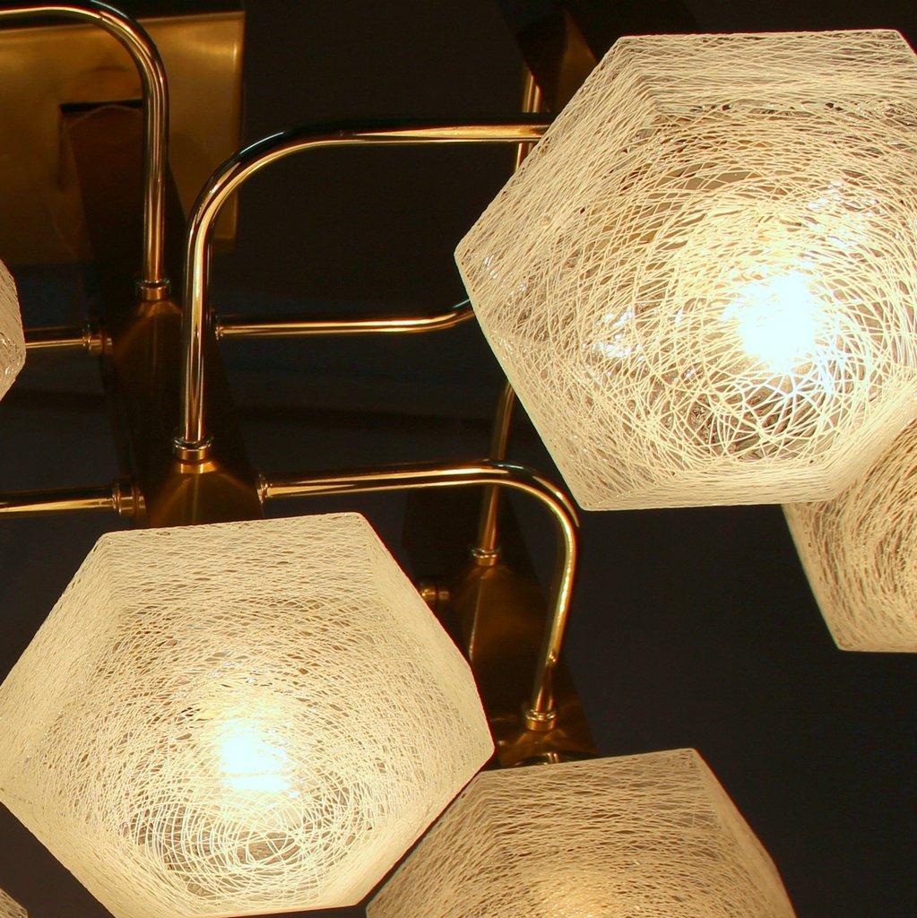 italienische vergoldete messing metall lampe 1970er bei pamono kaufen. Black Bedroom Furniture Sets. Home Design Ideas