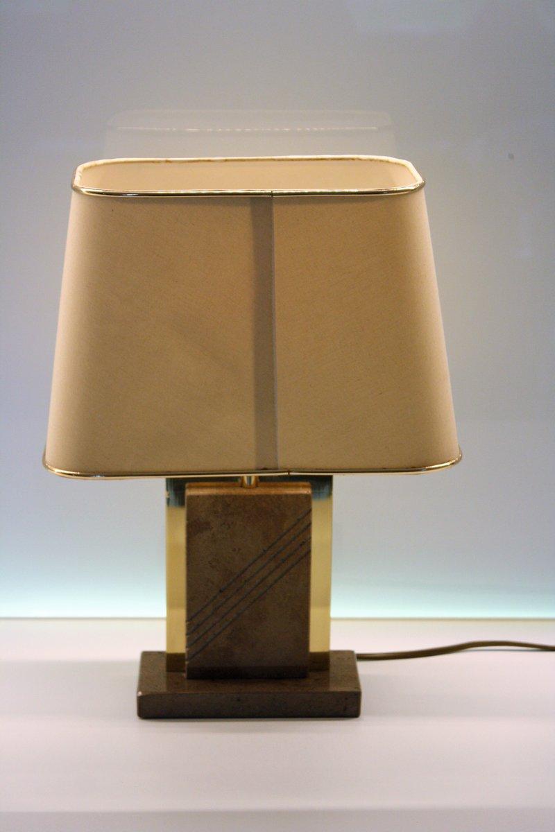 messing marmor tischlampe 1970er bei pamono kaufen. Black Bedroom Furniture Sets. Home Design Ideas