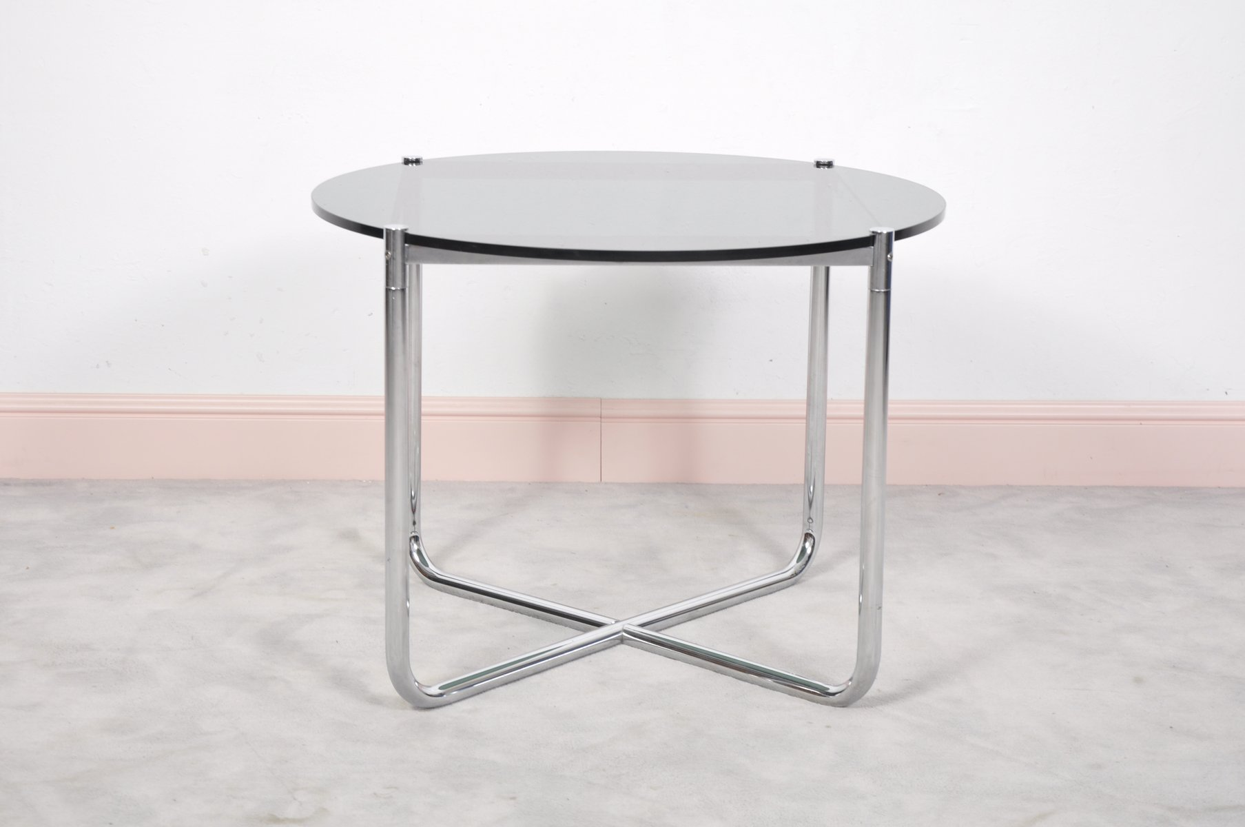 mr side table by ludwig mies van der rohe for knoll. Black Bedroom Furniture Sets. Home Design Ideas
