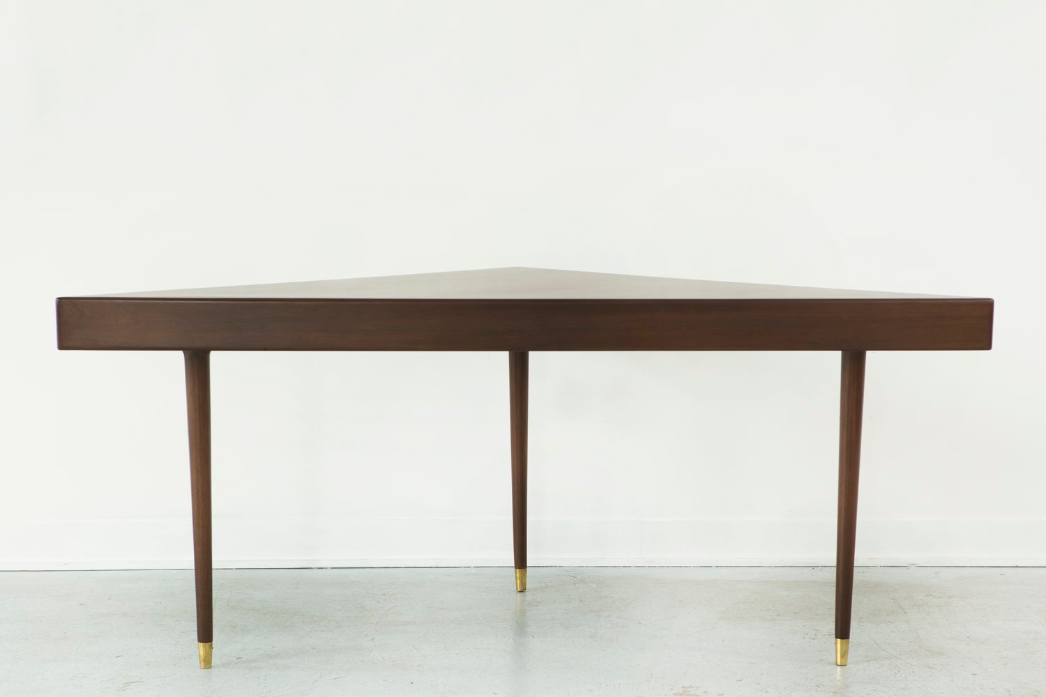 Triangular sofa table from harvey probber 1950s for sale for Sofa table rules
